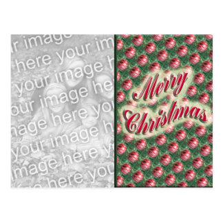 Merry Christmas ornaments photo frame Postcard
