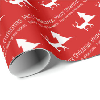 Merry Christmas Our Neck of the Woods Gift Wrap Wrapping Paper