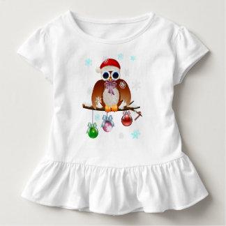 Merry Christmas Owl Toddler T-Shirt