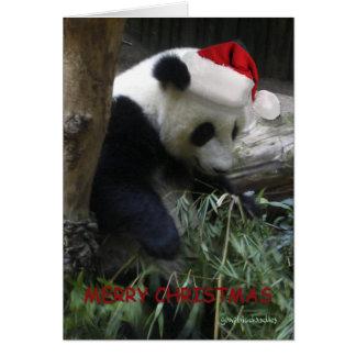 Merry Christmas Panda Happy New Year! Greeting Card