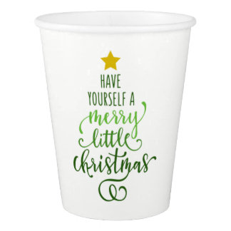 Merry Christmas Paper Cup