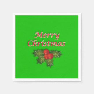 Merry Christmas paper napkins. Paper Napkin