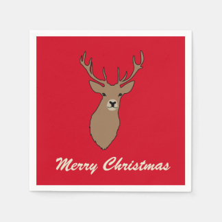 Merry Christmas Party Napkins Serviettes Disposable Serviettes