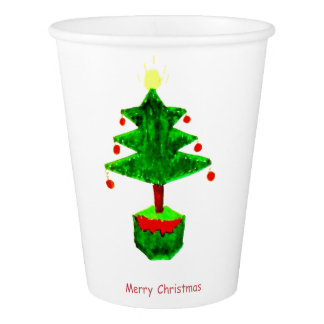 Merry Christmas Party Paper Cup