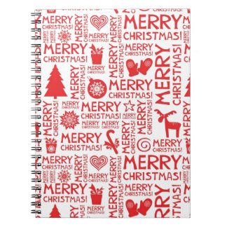Merry Christmas pattern Spiral Notebooks