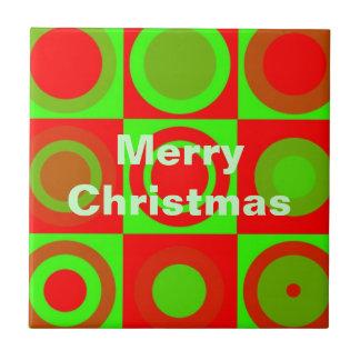 Merry Christmas Pattern Tile