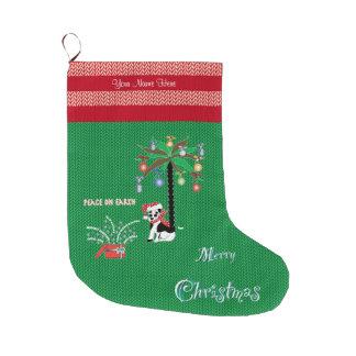 Merry Christmas Peace on Earth Christmas Stocking