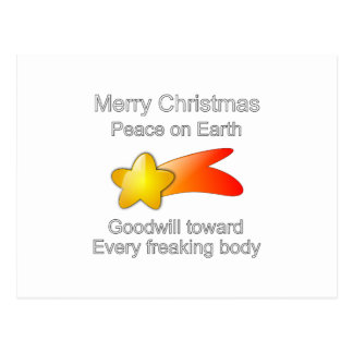 Merry Christmas Peace on Earth Goodwill to All Postcard