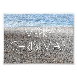 Merry Christmas Pebble Beach Sea Ocean Photography Photo