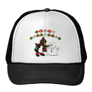 Merry Christmas Penguin and Snowman Hats