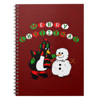 Merry Christmas Penguin and Snowman Notebooks
