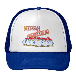 Merry Christmas Penguin Cap Trucker Hats