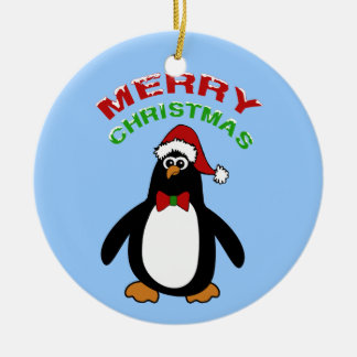 Merry Christmas Penguin Christmas Ornament