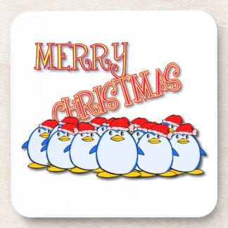Merry Christmas Penguin Coaster