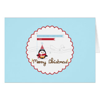 Merry Christmas {penguin} Greetings Greeting Card