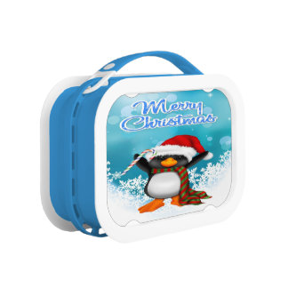 Merry Christmas Penguin Lunch box