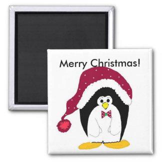 Merry Christmas Penguin - magnet