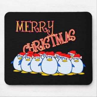 Merry Christmas Penguin Mousepad