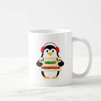 Merry Christmas Penguin Mugs