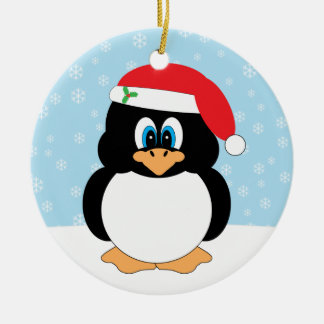 Merry Christmas Penguin Ornament