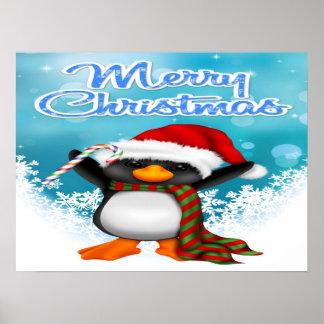 Merry Christmas Penguin Poster/Print