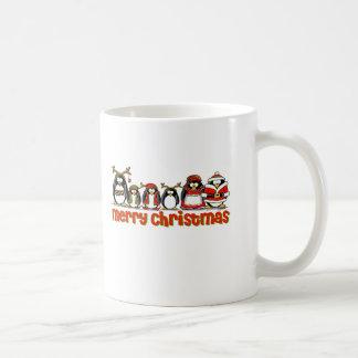 Merry Christmas Penguins Mugs