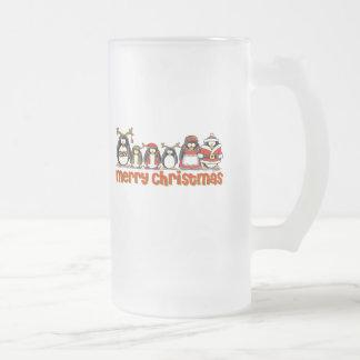 Merry Christmas Penguins Coffee Mugs