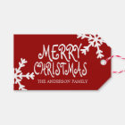 Merry Christmas Personalised Gift Tags