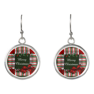 Merry Christmas Personalized Earrings