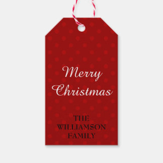 Merry Christmas Personalized Holiday Gift Tag