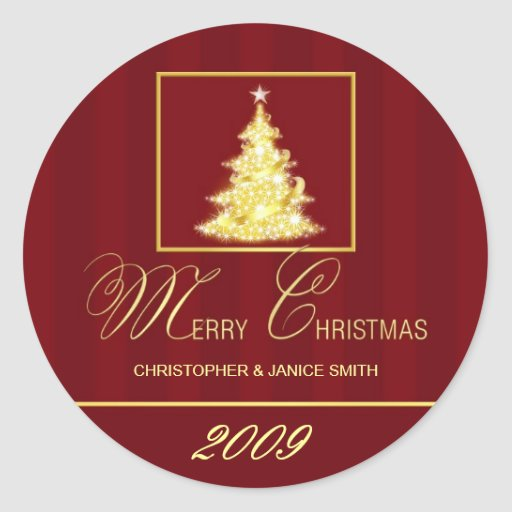 Merry Christmas -  Personalized Sticker Labels
