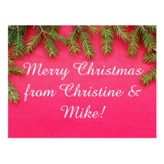 Merry Christmas, personalized various gifts Postcard