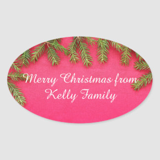 Merry Christmas, personalized various gifts Oval Sticker