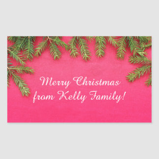 Merry Christmas, personalized various gifts Rectangular Sticker