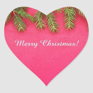Merry Christmas, personalized various gifts Heart Sticker
