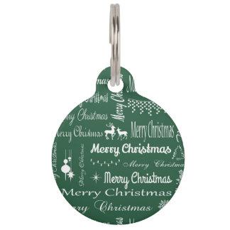 Merry Christmas Pet Nametags