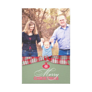Merry Christmas Photo 8x12 6 Inches Stretched Canvas Print