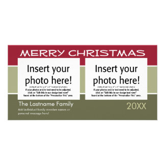 Merry Christmas Photo Card - 2 ohotos