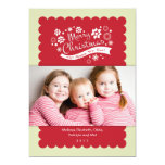 """Merry Christmas Photo Card 5"""" X 7"""" Invitation Card"""