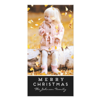 Merry Christmas Photo Card | Black Overlay