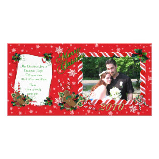 Merry Christmas Photo card candy canes frame