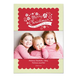 Merry Christmas Photo Card Groupon 13 Cm X 18 Cm Invitation Card