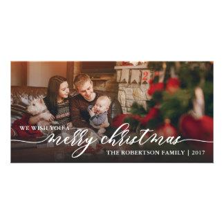 Merry Christmas Photo Card, Happy Holidays Card