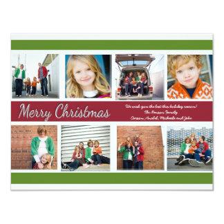 """Merry Christmas - Photo Card 4.25"""" X 5.5"""" Invitation Card"""