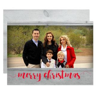 Merry Christmas Photo Card Template 17 Cm X 22 Cm Invitation Card
