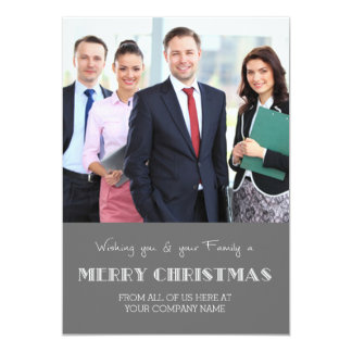 Merry Christmas Photo Cards Grey Business 13 Cm X 18 Cm Invitation Card