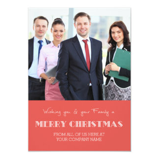 Merry Christmas Photo Cards Red Business 13 Cm X 18 Cm Invitation Card
