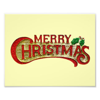 Merry Christmas Art Photo