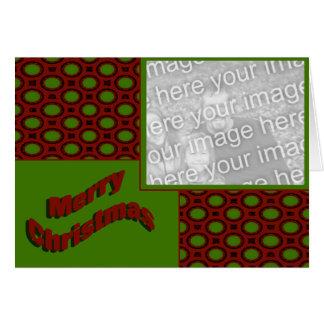 Merry Christmas Photo Frame Greeting Card
