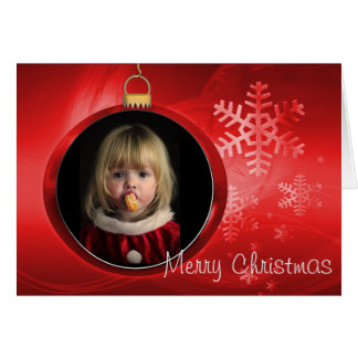 Merry Christmas Photo Frame Greeting Card